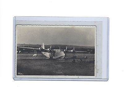 Imperial Airways Short Empire flying boat Cambria at Macon France RP  postcard