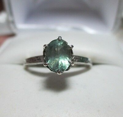 Victorian Style .97ct Natural Color Change Alexandrite Sterling Silver Ring