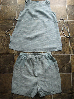 MIMI MATERNITY ladies size M MEDIUM 100% linen outfit set shorts tank top READ