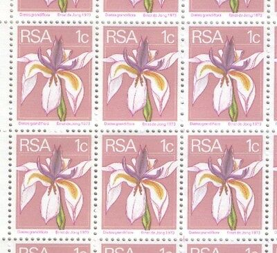 South Africa Large Block of 1974 Definitive 1c Stamps MH