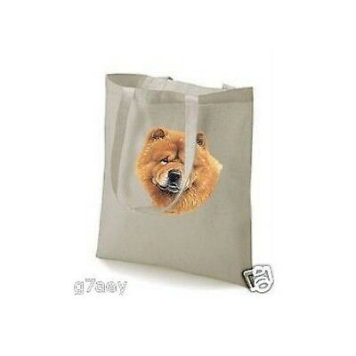 Chow Chow Face Design Printed Tote Shopping Bag