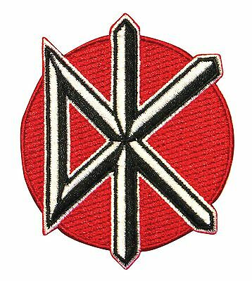 "Dead Kennedys ""DK"" Band Logo Punk Rock Music Embroidered Iron On Applique Patch"