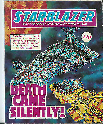 Death Came Silently,starblazer Space Fiction Adventure In Pictures,no.133,1984