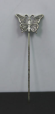 Vintage BEAU Sterling Silver Butterfly Hair Pin/Stick
