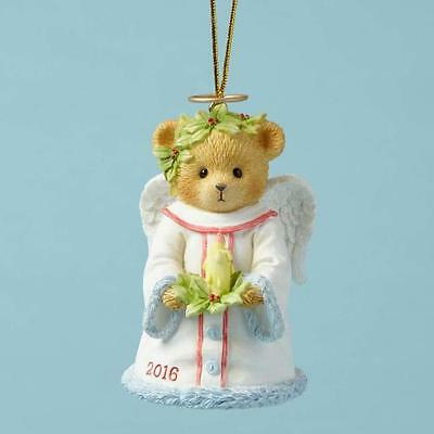 Cherished Teddies Bringing Good Tidings Of Great Joy 2016 Bell Ornament 4053451