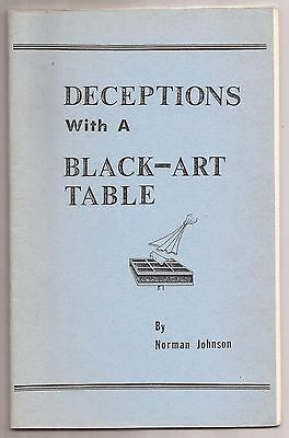 DECEPTIONS WITH A BLACK ART TABLE by Norman Johnson 1982