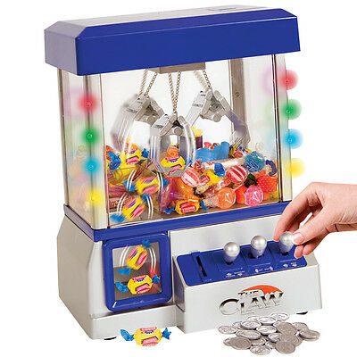 NEW Claw Arcade Game w/ LED Lights & Sound - Fill With Gum, Candy Or Small Toys