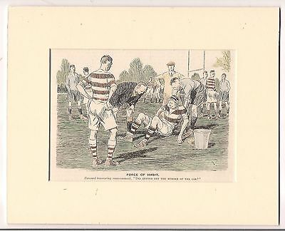 Vintage 1930 Punch RUGBY Cartoon ready for framing
