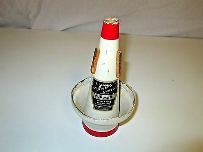 Vintage Humes & Berg Stone Lined Cup Mute for Trumpet