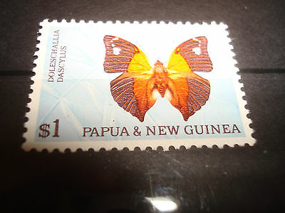 Papua New Guinea 1966 SG91 $1 Butterfly MNH