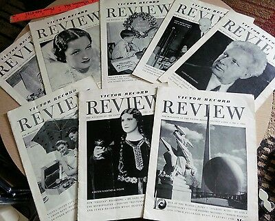 Mixed Lot Vintage RCA Victor Record  Magazines 1939-1940