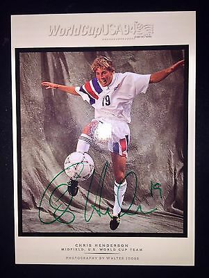Chris Henderson Autographed Walter Looss 94 UD World Cup Team USA Soccer Rapids
