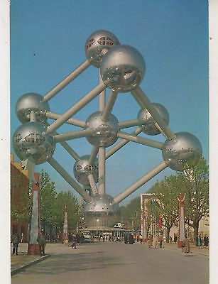 Brussels. Atomium. Postcard in GC. Unwritten and Unposted