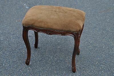 French Country Suede Stool By Decorative Crafts