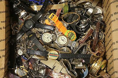 Watch Lot of 9 Lbs of Assorted Men's Women's Wrist Watches Band Wholesale Lot
