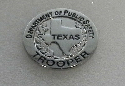 Texas State Public Safety TROOPER mini badge lapel pin TX highway patrol/police