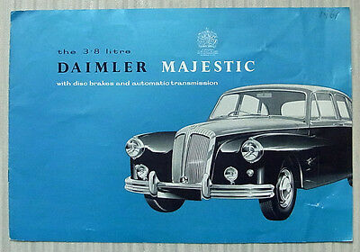 DAIMLER MAJESTIC 3.8 LITRE LF Car Sales Brochure 1959 #R702/5/2