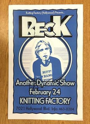 Beck Signed Coa Hollywood Concert Poster 2003 Autograph