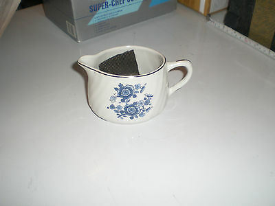 Royal Blue Ironstone Small Jug With Floral Design Enoch Wedgewood