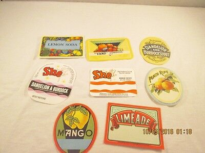 Vintage Unused Soda and Other Drink Labels #28