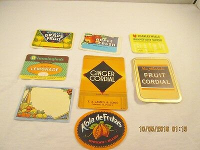 Vintage Unused Soda and Other Drink Labels #30