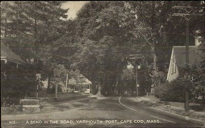 Yarmouth Port Cape Cod MA A Bend in the Road Postcard