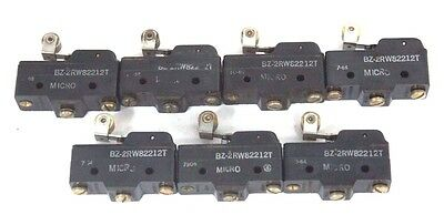 Lot Of 7 Honeywell Microswitch Bz-2Rw82212T Roller Switch