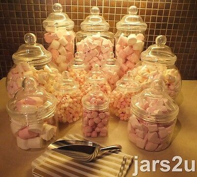 jars2u 13 Jar Party Maxi Size Pack -2 Scoops+100 Sweet Bags-Candy&Wedding Buffet