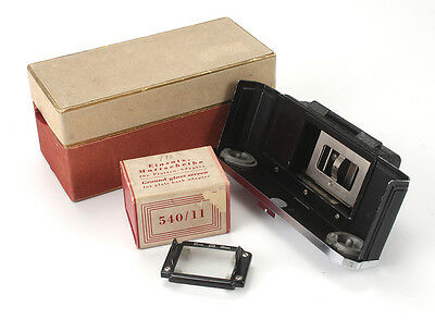 ZEISS PLATE BACK 543/13 FOR CONTAX II/III, BOXED + GROUND GLASS/cks/189196