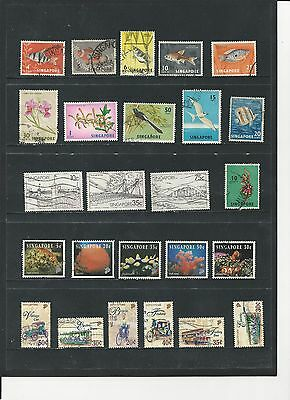SINGAPORE - NICE COLLECTION OF USED STAMPS - #SIN1abc - 3 SCANS