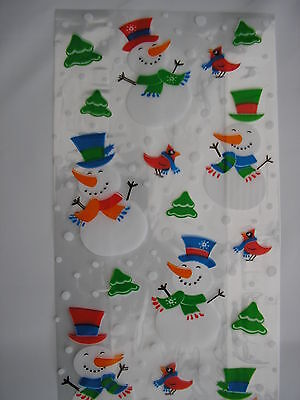 Set Of 60 Christmas Cellophane, Gift Bags/party Bags And Ties 29Cms X 12.5 Cms
