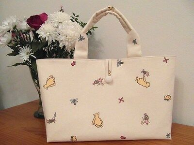 Knitting / Craft Bag 'winnie The Pooh And Piglet' 100% Cotton Fabric New