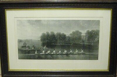 Vintage London Rowing Club Print Framed