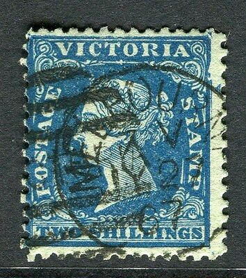 AUSTRALIA  VICTORIA 1859 early classic Imperf QV used 2s. value