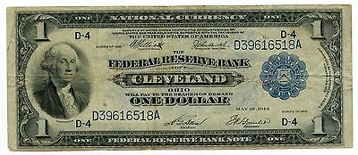 1918 National Currency - Cleveland Federal Reserve Bank - Large Note - AI288