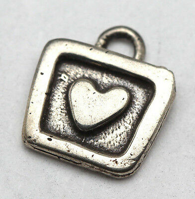Vintage Sterling Silver HEART LOVE Pendant Charm STAMPED .925 Not Scrap Jewelry