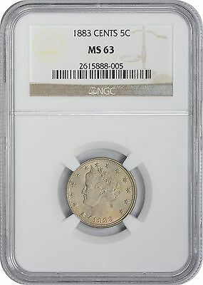 1883 Liberty Nickel MS63 NGC Mint State 63