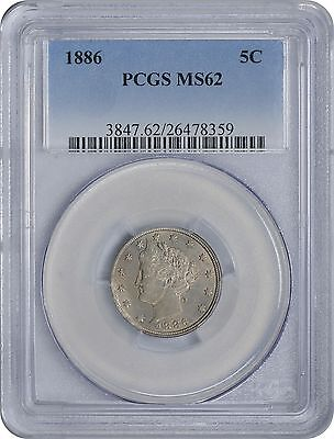 1886 Liberty Nickel MS62 PCGS Mint State 62