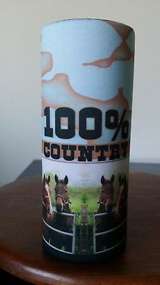 HORSES -Stubby holder- 10 DESIGNS - Choose one only - GREAT GIFT