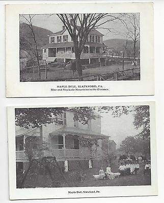 Two Old RPPC of Maple Dell, Slateford, PA a Tourist Boarding House Postcard