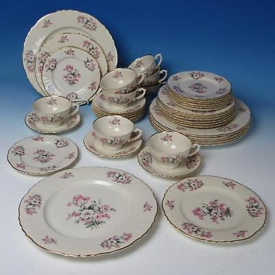 Aberdeen China Moss Rose - 6+ Place Settings - Plates/Cup/Saucer - 38 Pieces