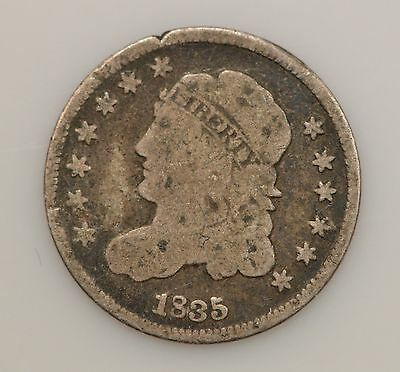 1835 Capped Bust *Small Date & 5 C* Silver Half Dime *G16