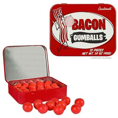 Bacon Gumballs! - 22 Yummy Bacon Flavored Gumballs in a Collectible Tin!