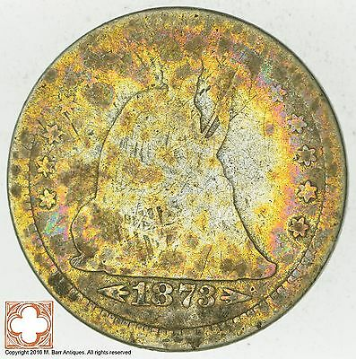 1873-S Seated Liberty Silver Quarter *5778