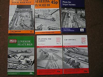 Job Lot Of 6 Peco Model Railway Booklets Cab Control Lineside Layouts 00 Scale