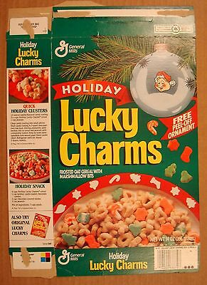 General Mills~1991 Lucky Charms~Special Marshmellow Holiday Shapes~Cereal Box