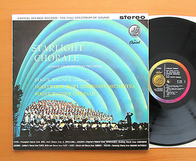 Starlight Chorale Roger Wagner Hollywood Bowl Symphony Capitol SP 8390 Stereo NM