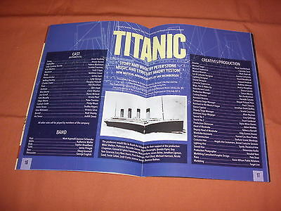 TITANIC the Musical  Original 2016 WEST END Theatre Programme *BRAND NEW*
