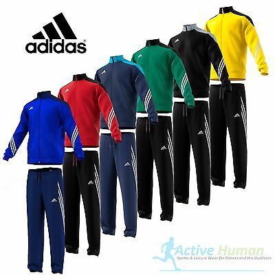 BOYS ADIDAS TRACKSUIT Junior Kids Full Zip Football Top Pants Bottoms Age 5-14