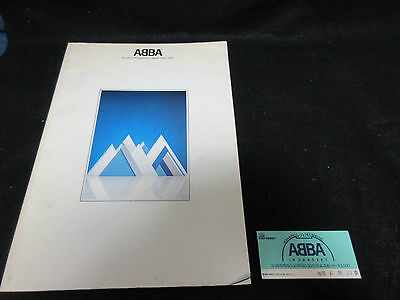 ABBA 1980 Japan Tour Book Concert Program w Ticket Frida Benny Bjorn Hep Stars